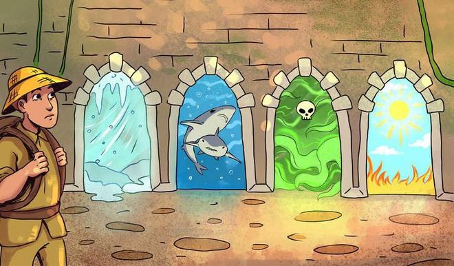 Nhìn tranh phán đoán: Người đàn ông sẽ chọn cánh cửa nào để thoát khỏi ngôi nhà kỳ bí? - Ảnh 1.