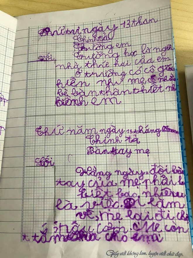 Nam sinh khai bút sau kì nghì dài khiến cô giáo tụt huyết áp nhắn tin gấp cho phụ huynh - Ảnh 1.
