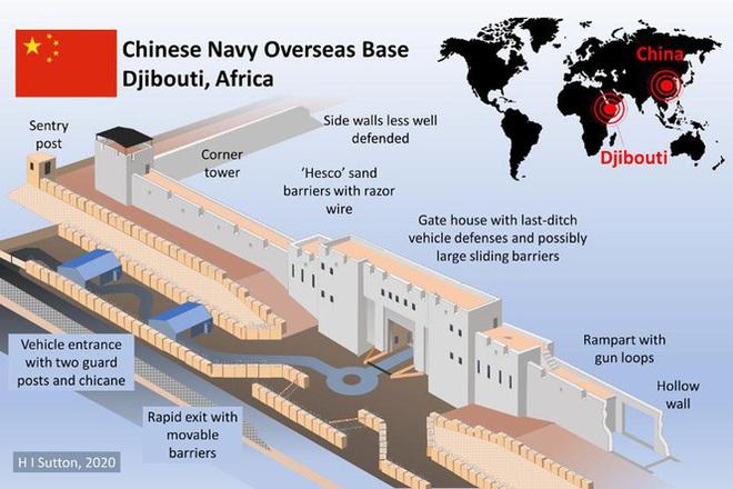 Hải quân Trung Quốc xây căn cứ như thành lũy thời Trung cổ - Ảnh 1.