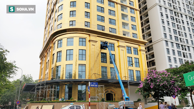 Tòa nhà dát vàng 24K từ chân đến nóc khủng nhất Hà Nội đang hoàn thiện - Ảnh 10.