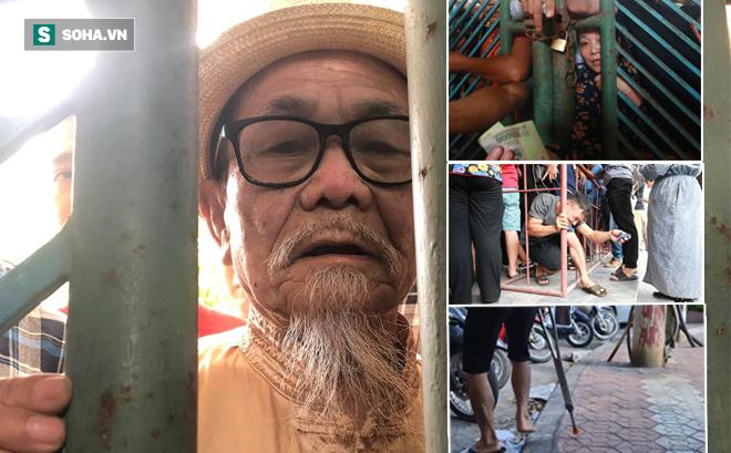 Cụ ông 90 tuổi đội nắng xếp hàng, CĐV Nam Định chống nạng, chui rào mua vé trận gặp HAGL