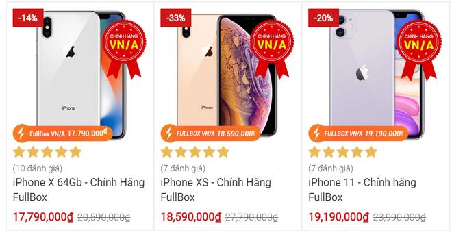 Lần hiếm hoi các mẫu điện thoại iPhone chính hãng được giảm giá đồng loạt - Ảnh 1.