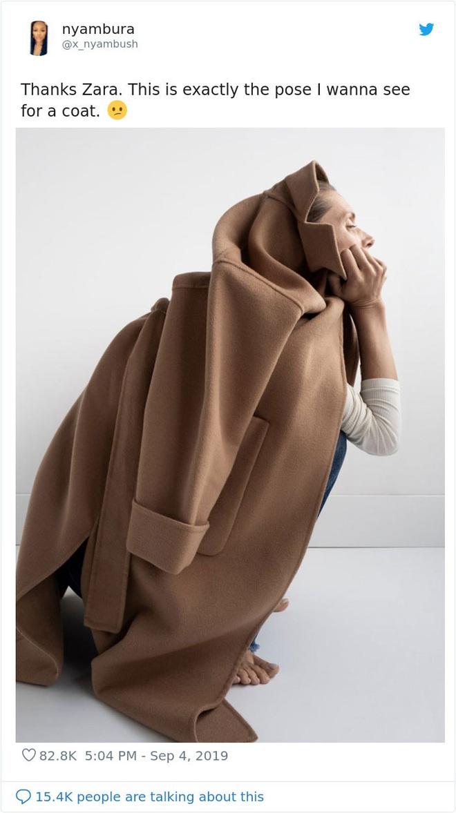 Dân mạng khóc thét khi mua sắm online đồ Zara vì tư thế khó đỡ của người mẫu chụp tại nhà - Ảnh 12.