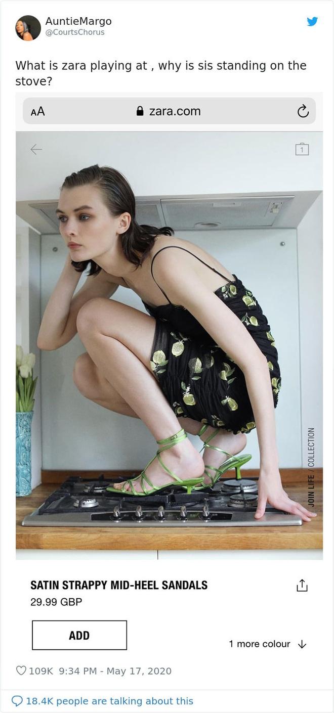 Dân mạng khóc thét khi mua sắm online đồ Zara vì tư thế khó đỡ của người mẫu chụp tại nhà - Ảnh 13.