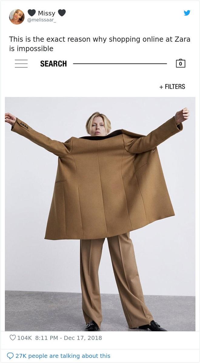 Dân mạng khóc thét khi mua sắm online đồ Zara vì tư thế khó đỡ của người mẫu chụp tại nhà - Ảnh 14.
