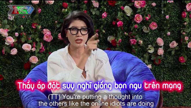Trang Trần chỉ tay, cãi tay đôi với Tiến sĩ Lê Thẩm Dương - Ảnh 4.