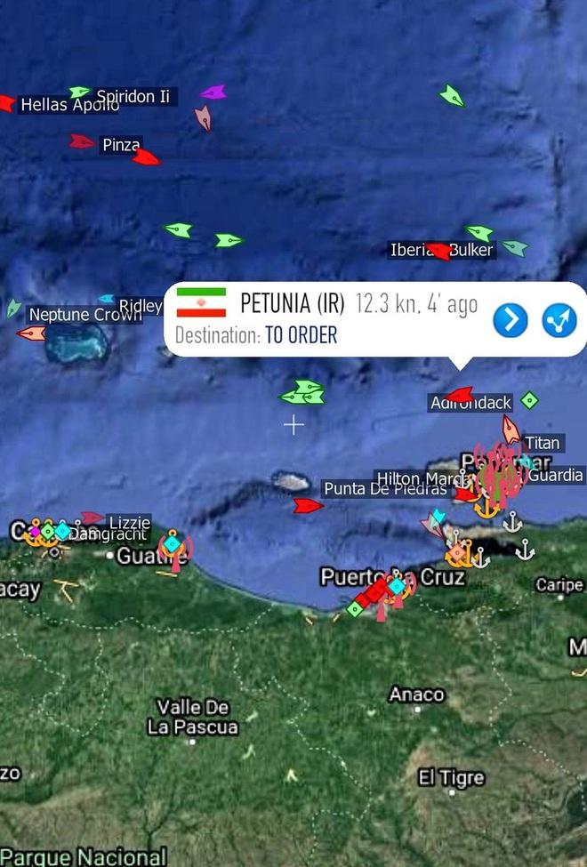 NÓNG: 3-0, Iran và Venezuela dẫn trước ngoạn mục trước hạm đội hùng hậu HQ Mỹ - Dấu hiệu tàu khóa đuôi bị chặn bắt? - Ảnh 17.