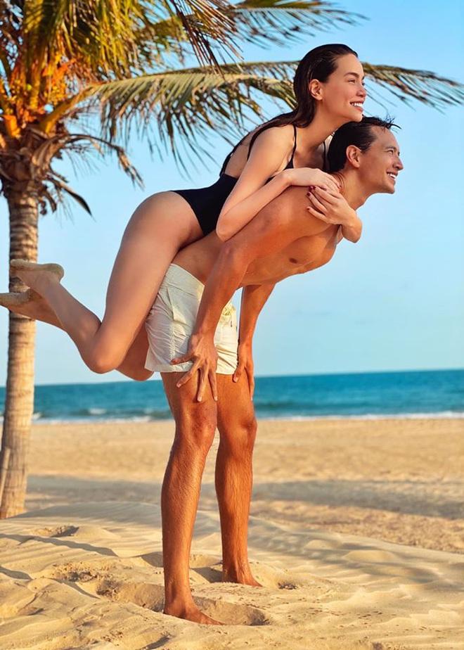 Hồ Ngọc Hà tung ảnh bikini nóng bỏng, tình tứ bên Kim Lý - Ảnh 1.