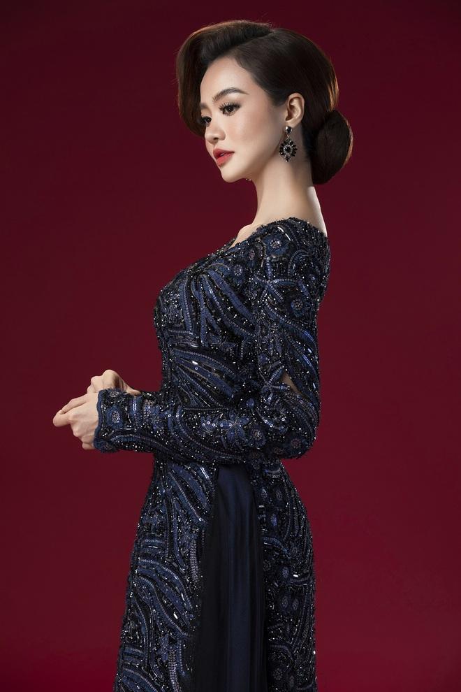 Hoa hậu Kiều Ngân làm nàng thơ cho NTK Minh Châu - Ảnh 2.