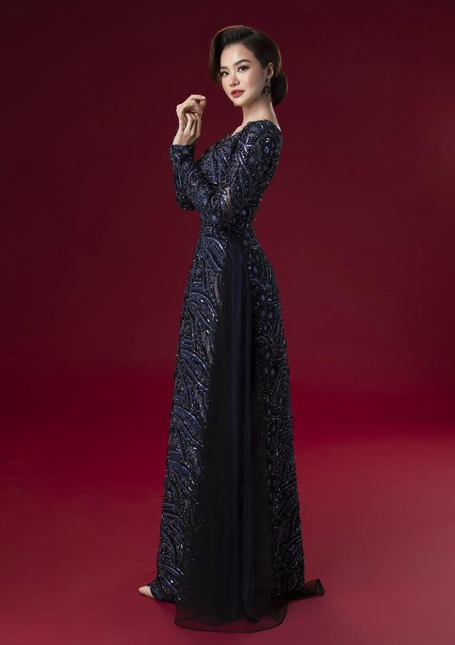Hoa hậu Kiều Ngân làm nàng thơ cho NTK Minh Châu - Ảnh 3.