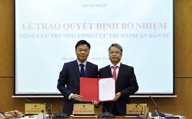 Trao quyết định bổ nhiệm Tổng cục trưởng Tổng cục Thi hành án dân sự