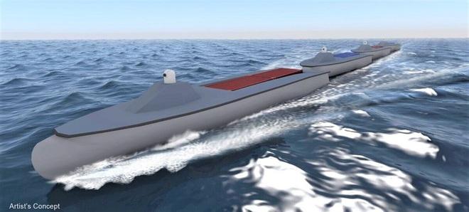"""Dự án """"đoàn tàu biển"""" không người lái đầy tham vọng của Mỹ - Ảnh 1."""