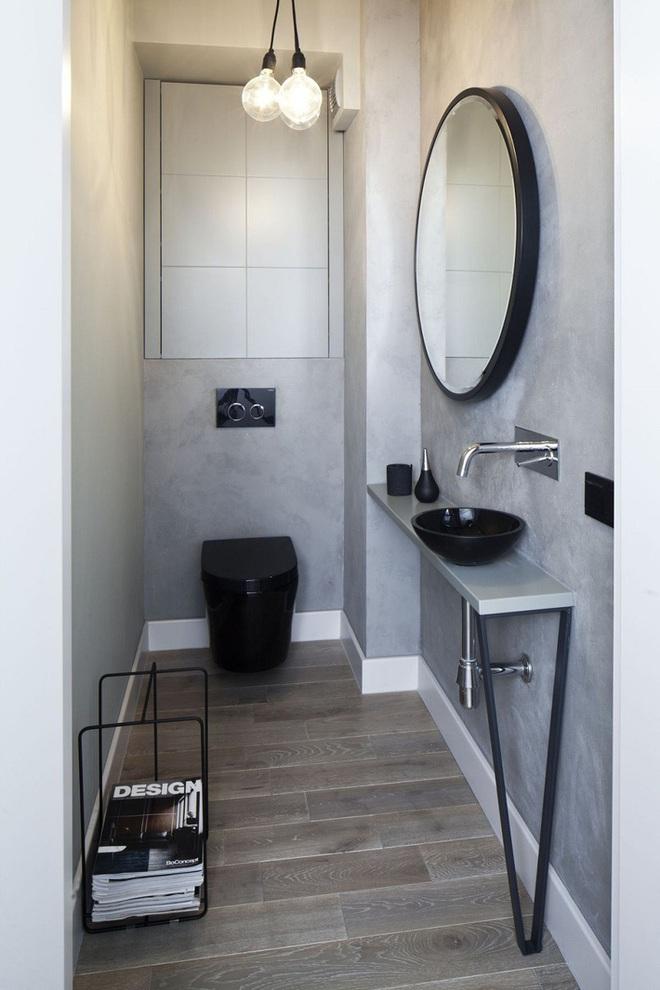 Các ý tưởng tuyệt vời dành cho bạn để truyền nguồn cảm hứng thiết kế cho một không gian nhà vệ sinh chỉ 3m² - Ảnh 12.