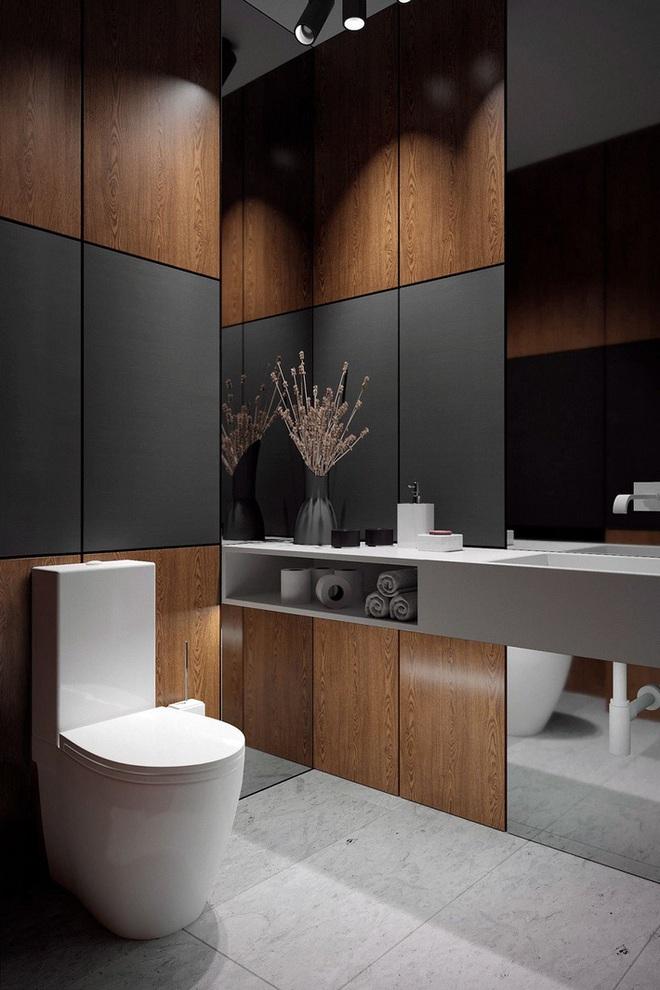 Các ý tưởng tuyệt vời dành cho bạn để truyền nguồn cảm hứng thiết kế cho một không gian nhà vệ sinh chỉ 3m² - Ảnh 4.