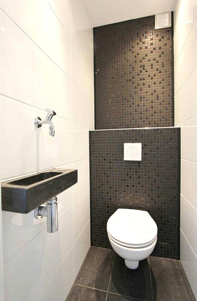 Các ý tưởng tuyệt vời dành cho bạn để truyền nguồn cảm hứng thiết kế cho một không gian nhà vệ sinh chỉ 3m² - Ảnh 7.