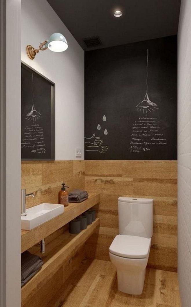 Các ý tưởng tuyệt vời dành cho bạn để truyền nguồn cảm hứng thiết kế cho một không gian nhà vệ sinh chỉ 3m² - Ảnh 9.