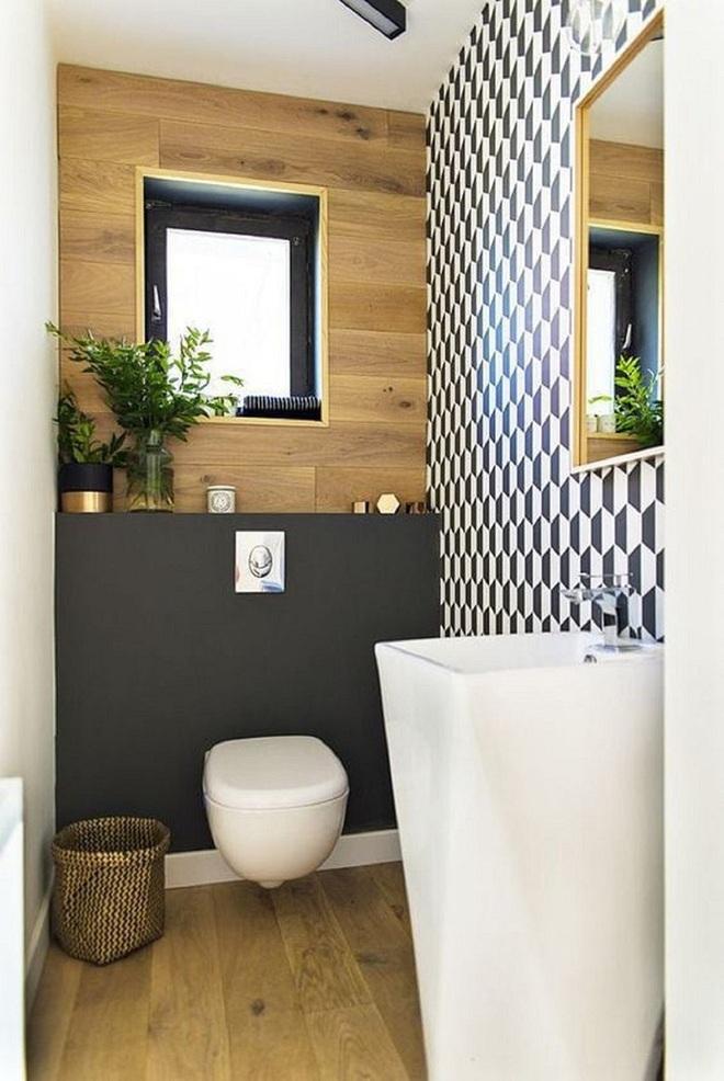 Các ý tưởng tuyệt vời dành cho bạn để truyền nguồn cảm hứng thiết kế cho một không gian nhà vệ sinh chỉ 3m² - Ảnh 10.