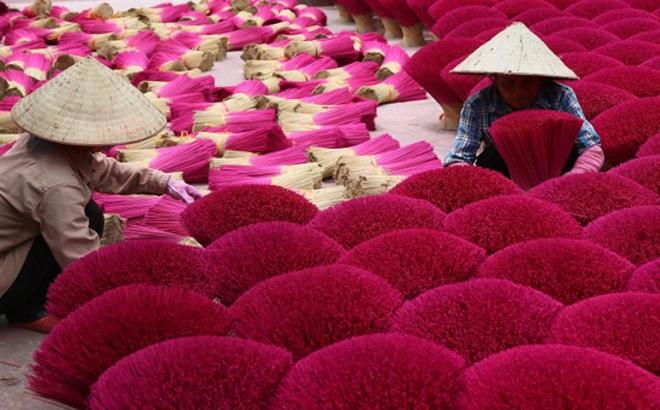 Ảnh: Làng làm tăm hương nổi tiếng Hà Nội nhộn nhịp ngày giáp Tết