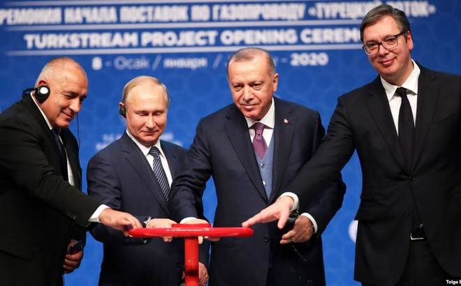 Nga, Thổ Nhĩ Kỳ khánh thành tuyến đường ống Dòng chảy Thổ Nhĩ Kỳ