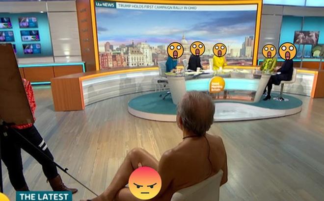 Kênh truyền hình Anh gây bức xúc vì đưa người mẫu khỏa thân lên TV dù họa sĩ chỉ vẽ mỗi cái mặt