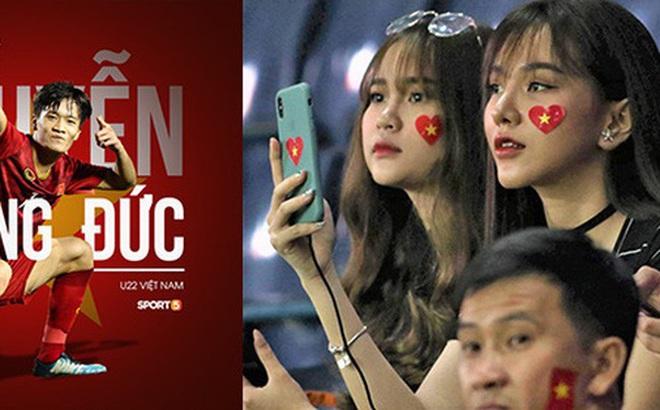 Bạn gái Hoàng Đức chiếm spotlight với góc nghiêng thần thánh khi sang Thái Lan cổ vũ U23 Việt Nam đấu U23 Jordan