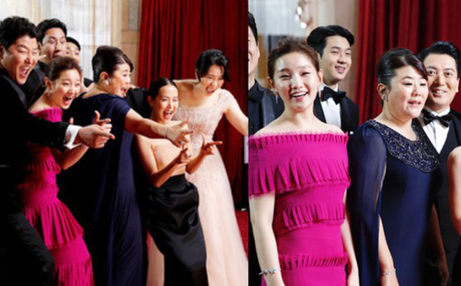 Dàn sao 'Ký sinh trùng' gây sốt khi 'làm trò' trên thảm đỏ Oscar 2020, nữ hoàng phim nóng và Park So Dam chiếm trọn spotlight