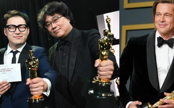 """7 khoảnh khắc phát biểu đáng nhớ tại Oscar 2020: """"Chú Bong"""" Parasite tỏ tình ngay trên sân khấu, Brad Pitt """"lầy lội"""" cà khịa Tổng thống Trump"""