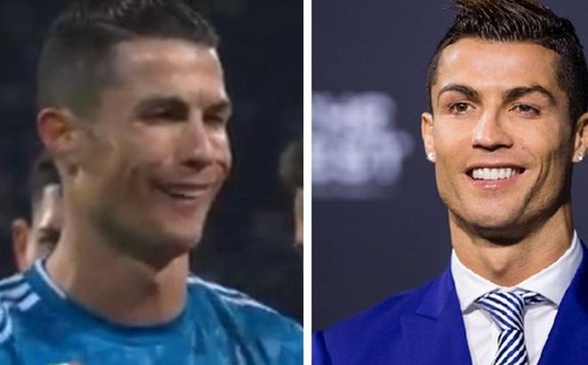 """Bị đối thủ hết ăn vạ rồi đổ tội oan, Ronaldo đáp trả bằng kiểu cười """"độc"""" chưa từng xuất hiện trước kia, báo Ý liền xuýt xoa: Xứng đáng làm meme"""