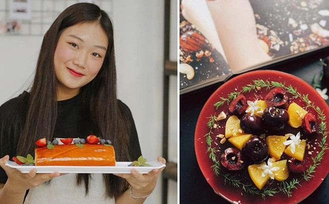 """Gái xinh RMIT tranh thủ khoe tài nấu ăn tại nhà sau giờ học online, ai nói """"dân"""" trường con nhà giàu thì không đảm?"""