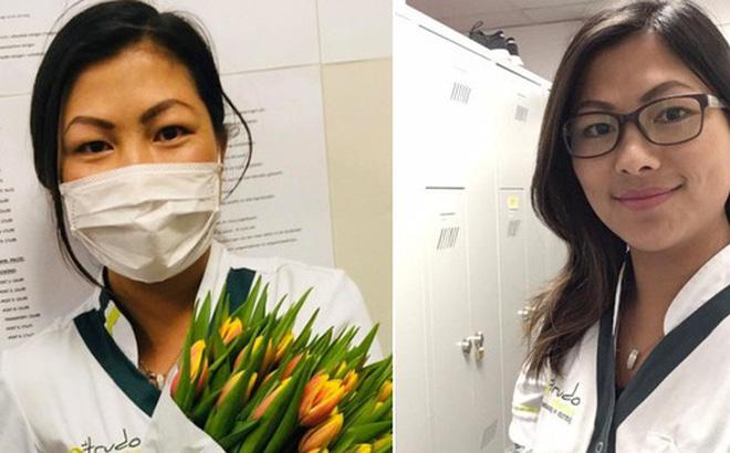 """Hiện tượng mạng """"Cô bé H'mong giỏi tiếng Anh"""" được tặng hoa cảm ơn vì tham gia chăm sóc bệnh nhân Covid-19 tại Bỉ"""