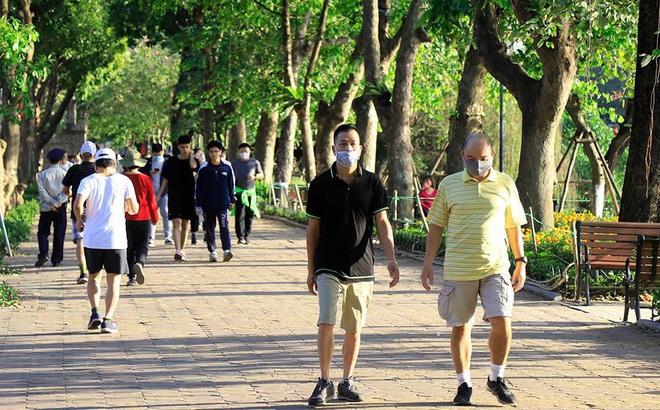 Không gian đi bộ khu vực hồ Hoàn Kiếm và phụ cận hoạt động bình thường trở lại từ 15-5