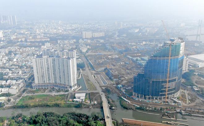 Con đường ven sông trị giá 'tỷ đô' ở Sài Gòn nhìn từ trên cao