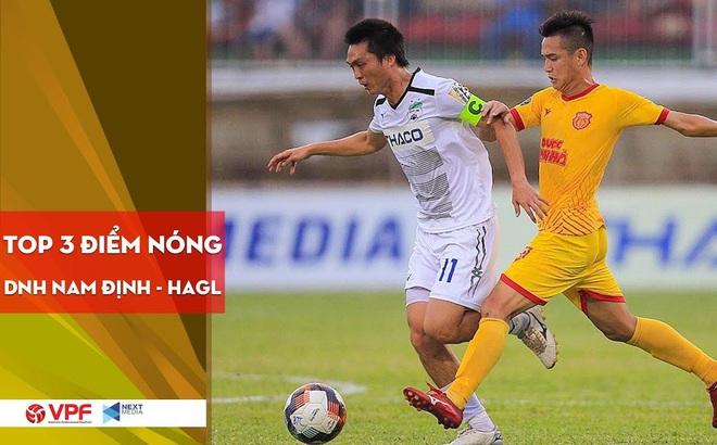 """3 điểm nóng quyết định """"thành bại"""" tại trận Nam Định - HAGL tại Thiên Trường"""