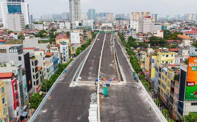 Cận cảnh đường vành đai 2 của Hà Nội sau hơn 2 năm thi công