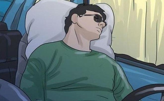 Mẹo hay giúp tài xế ngủ ngon, tránh bị ngạt khí trong ôtô