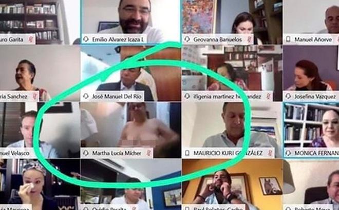 Nữ thượng nghị sĩ vô tình lộ ngực khi họp trực tuyến trên Zoom