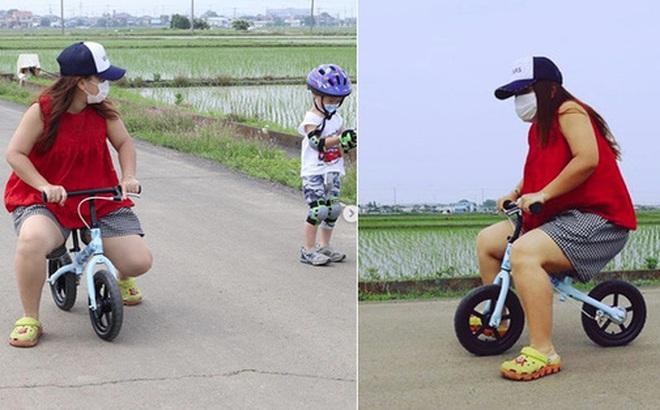 """Hot mom Quỳnh Trần JP đón sinh nhật tuổi 35 bằng bức ảnh tự """"dìm"""" hài hước nhưng fan chỉ thấy tội cho chiếc xe đạp của Sa"""