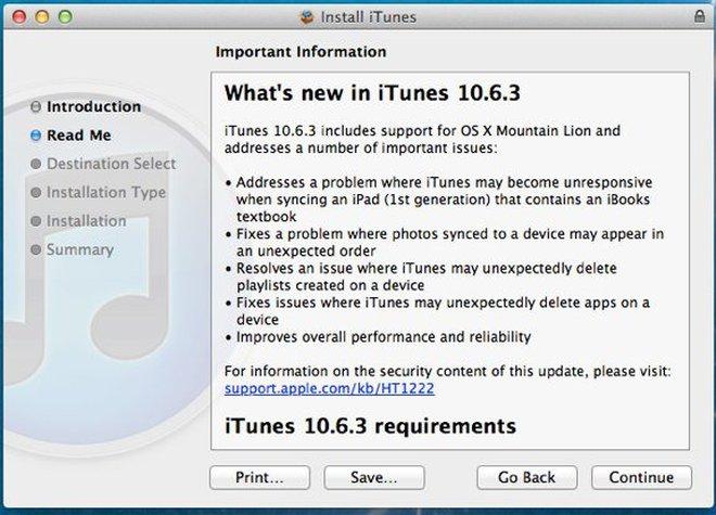 Đón đầu iOS 6, Apple cập nhật iTunes lên phiên bản 10.6.3
