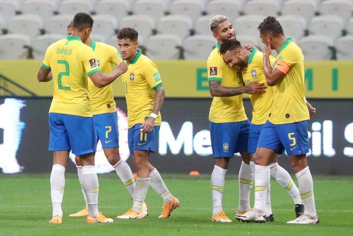 Neymar đóng vai kép phụ, tuyển Brazil thắng tưng bừng 5 sao ở trận ra quân vòng loại World Cup - Ảnh 9.