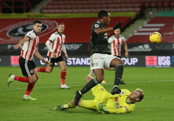 Hàng thủ lại tấu hài, Man Utd thắng thót tim để tiến sát cuộc đua vô địch Ngoại hạng Anh - Ảnh 6.