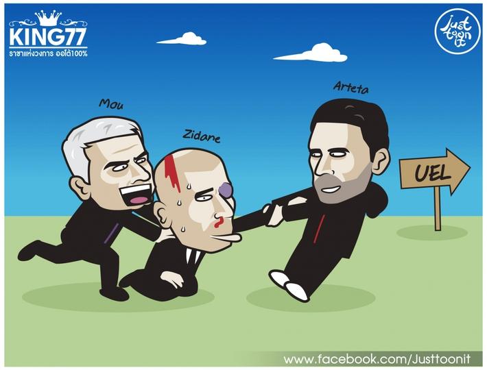 Biếm họa 24h: Mourinho mời gọi Zidane xuống chơi Europa League - Ảnh 3.