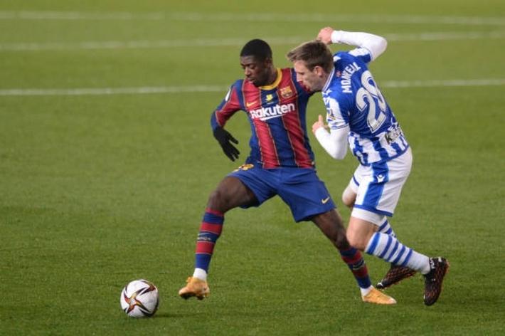 Không Messi, Barca vất vả tiến vào chung kết Siêu Cúp Tây Ban Nha - Ảnh 1.