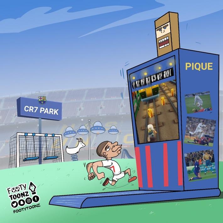 Biếm hóa 24h: Messi và Pique bất lực trước máy chạy Mbappe - Ảnh 4.