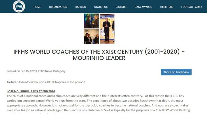 Vượt mặt cả Pep và Ferguson, Mourinho được vinh danh là huấn luyện viên xuất sắc nhất từ đầu thế kỷ - Ảnh 1.