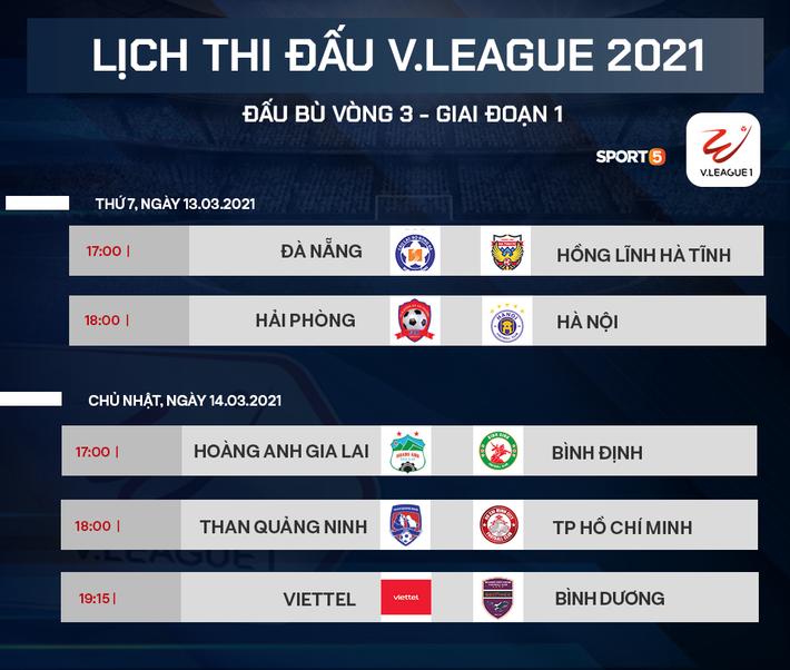 Lịch thi đấu V.League 2021 ngày comeback cực mạnh: Tâm điểm Hải Phòng vs Hà Nội FC - Ảnh 1.