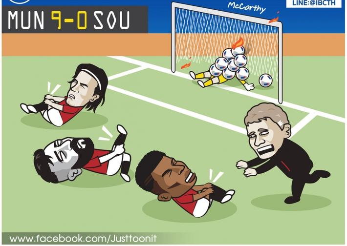 Biếm họa 24h: Cầu thủ MU sút mỏi chân trước Southampton - Ảnh 5.