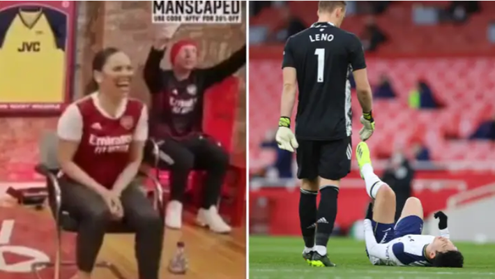 Fan Arsenal bị ném đá vì hò hét và cười toe toét khi Son Heung-min chấn thương rời sân - Ảnh 1.