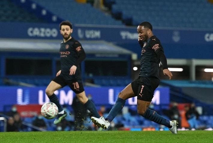 6 phút cuối ghi 2 bàn, Man City hạ Everton để giành vé bán kết FA Cup - Ảnh 4.