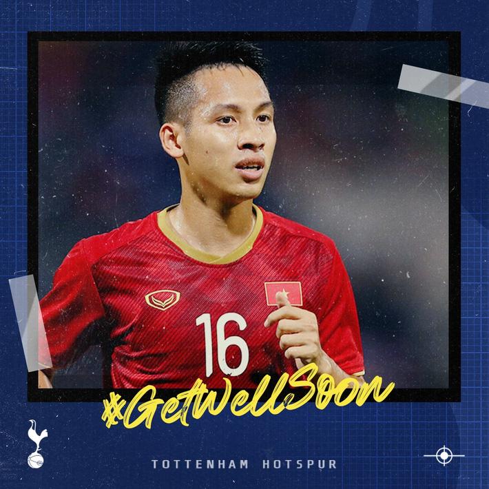 Tottenham gửi lời chúc Đỗ Hùng Dũng sớm trở lại sân cỏ - Ảnh 1.