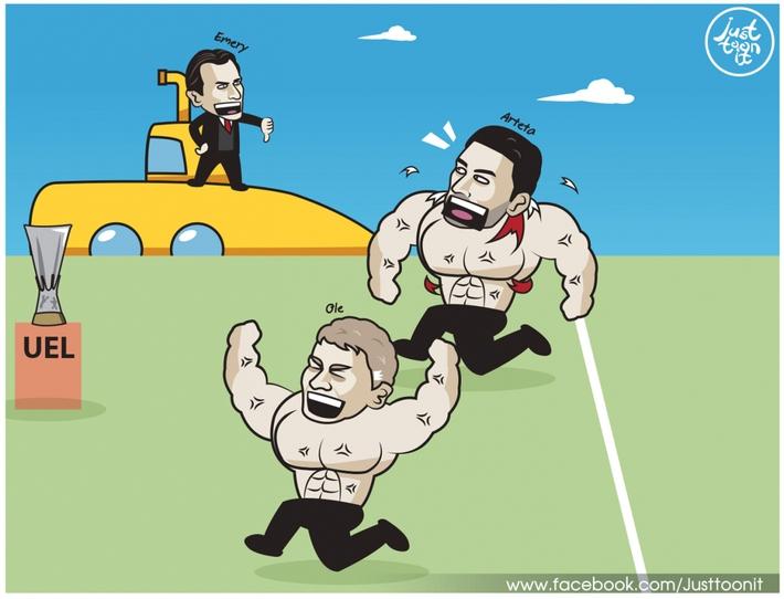 Biếm họa 24h: HLV Unai Emery thách thức MU và Arsenal - Ảnh 2.